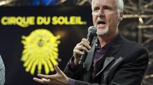 Director James Cameron announces a new show by the Cirque du Soleil based on his movie Avatar at a news conference Thursday, May 29, 2014 in Montreal. (Ryan Remiorz/THE CANADIAN PRESS)