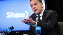 Brad Shaw, CEO of Shaw Communications, answers questions during a news conference at the Shaw annual meeting in Calgary, Alberta, January 14, 2014. (TODD KOROL/REUTERS)