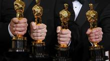 Oscar statuettes are made by a Chicago foundry, now owned by St. Regis Crystal of Markham, Ont. (MIKE BLAKE/REUTERS)