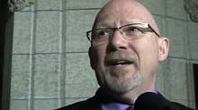 NDP MP Randall Garrison outside the House of Commons in Ottawa. (Youtube)