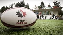 The Rugby Canada logo is seen in this file photo. (John Lehmann/The Globe and Mail)