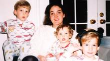 Globe columnist Sarah Hampson and her sons, circa 1991, in Toronto. (Picasa)