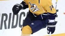 Nashville Predators left wing Sergei Kostitsyn (Mark Humphrey/The Associated Press)
