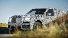 Rolls-Royce Cullinan seen in camouflage as testing begins (Rolls-Royce)