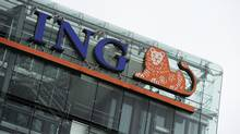 The logo of ING is pictured at the headquarters in Amsterdam in this July 16, 2012, file photograph.  (Robin van Lonkhuijsen/Reuters)