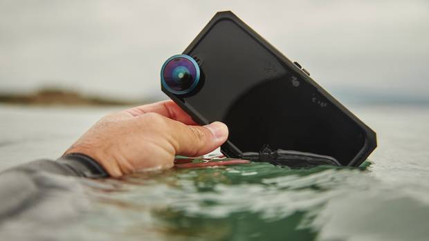 The Hitcase Pro is 100-per-cent waterproof and drop-proof.