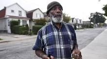Sylbert Thomas, who's lived on Brownville Avenue for the past four years, welcomes Mr. Tory's SmartTrack – if it's underground. (Fred Lum/The Globe and Mail)