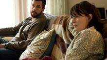 "Adam Sandler plays Don Truby and Rosemarie DeWitt plays Helen Truby in ""Men, Women & Childern,"" from Paramount Pictures and Chocolate Milk Pictures. (Dale Robinette)"