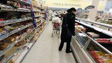 File photo of a customer shopping for groceries in Toronto. (Deborah Baic/The Globe and Mail)