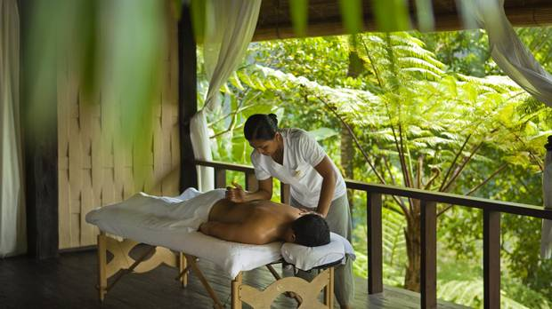 Treatment at the Kedara Como Shambhala Estate in Ubud, Bali. Balinese massage involves more pressure-point and deep-tissue work than other methods.