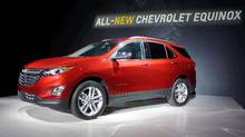 The 2018 Chevrolet Equinox is revealed during an event in Chicago on Sept. 22, 2016. (Jeremy Sinek for The Globe and Mail)