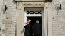 Welcome to 24 Sussex Drive: Is that gnome a Riders fan? (BLAIR GABLE/REUTERS)