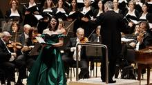 Allyson McHardy, mezzo-soprano, in the Toronto Symphony Orchestra's performance of Handel's Messiah. (Malcolm Cook)