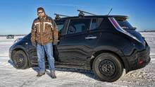 Ricardo Borba estimates his household has saved about $10,700 in gas costs since buying his Nissan Leaf in 2011. (Paulo Lima)
