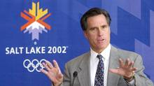 Mitt Romney, then-president of the Salt Lake Organizing Committee, on Oct. 1, 2001. (DOUGLAS C. PIZAC/Associated Press)