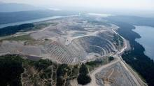 A aerial view shows the Mount Polley mine near the town of Likely, B.C. Tuesday, August, 5, 2014. (JONATHAN HAYWARD/THE CANADIAN PRESS)