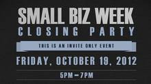 small biz closing party logo