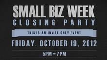 small biz closing party logo