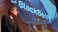 Research In Motion CEO Thorsten Heins. Investors are bidding up the company's shares on excitement over next year's launch of the BlackBerry 10. (<240>Dave Chidley/THE CANADIAN PRESS)