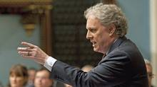 Quebec Premier Jean Charest responds to Opposition questions Thursday March 18, 2010 at the Quebec legislature. (Jacques Boissinot/THE CANADIAN PRESS)