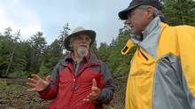 David Suzuki in Gwaii Haanas national marine park with Environment Minister Jim Prentice.