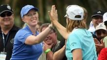 Morgan Pressel and Annika Sorenstam (Taylor Jones/OUT TV, MAGAZINES AND SALES)