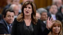 Interim Conservative Party Leader Rona Ambrose asks a question during Question Period in the House of Commons in Ottawa, Monday, April 11, 2016. (Adrian Wyld/THE CANADIAN PRESS)