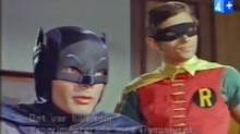 Adam West and Burt Ward in the 1960s TV version of Batman.