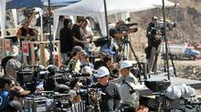 The media platform at the San Jose mine gives an indication of why the Chilean government wanted to restrict media access to the mine and produce TV footage itself. (Martin Bernetti/AFP/Getty Images/Martin Bernetti/AFP/Getty Images)