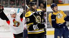Erik Karlsson, Zdeno Chara and Shea Weber