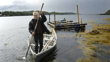 John Keefe plies the waters near his home in Newville, Nfld., on Sept. 10. (Kevin Van Paassen/The Globe and Mail)