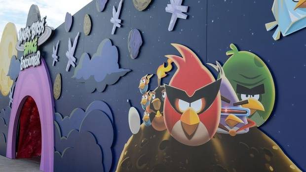 Angry Birds Space Encounter is the first 'comprehensive, interactive Angry Birds attraction' in the United States, according to a press release. (Kennedy Space Center Visitor Complex)