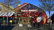 The Public Market near Emily Carr University is a mainstay of Granville Island in Vancouver. (Jeff Vinnick/Jeff Vinnick for The Globe and Mail)