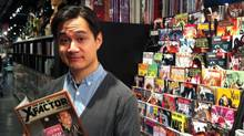 Toronto comic artist Jason Loo at the Silver Snail comic shop on Yonge Street. (Allie Coulman/The Globe and Mail)