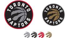 The Toronto Raptors released these images of their new logo on Friday, part of a complete redesign slated for next season. (Raptors.com)