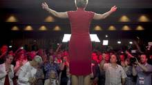 Ontario Premier Kathleen Wynne acknowledges supporters in Toronto on June 12. (Darren Calabrese/THE CANADIAN PRESS)