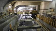 Construction at the Highway 407 subway station in Toronto. (Fred Lum/The Globe and Mail)