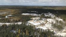 Two mining exploration camps are pictured in the proposed Ring of Fire development area, approximately 500 kilometres northeast of Thunder Bay, Ontario in this undated handout photo obtained by Reuters March 28, 2013. (Handout/Reuters/Ontario Ministry of Northern Development and Mines)