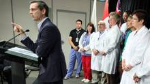 Ontario Liberal Leader Dalton McGuinty delivers a speech during a campaign stop at the Children's Hospital of Eastern Ontario in Ottawa on Sept. 19, 2011. (PATRICK DOYLE/THE CANADIAN PRESS)