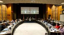 The boardroom of the TDSB at the beginning of their meeting in Toronto on Jan. 16, 2013. (Peter Power/The Globe and Mail)