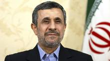 In this April 15, 2017, file photo, former Iranian President Mahmoud Ahmadinejad gives an interview to The Associated Press at his office in Tehran, Iran. (Ebrahim Noroozi/AP)