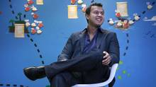 Harry Chemko, CEO of Elastic Path Software Inc., sits in the company office in Vancouver June 1, 2011. (Jeff Vinnick/THE GLOBE AND MAIL)