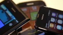 Nokia smartphones. (BOGDAN CRISTEL/REUTERS)
