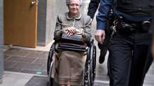 Former lieutenant governor Lise Thibault leaves a courtroom, on March 26, 2014 in Quebec City. (Jacques Boissinot/THE CANADIAN PRESS)