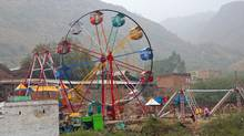 It cost just 20 rupees, or around 20 cents Canadian, to ride this rickety Ferris wheel in Pakistan. (CHRIS STEWART)
