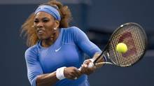 Serena Williams during a match against Francesca Schiavone at the Rogers Cup in Toronto Aug 7, 2013. Williams beat Schiavone in straight sets 6-3. 6-2. (Moe Doiron/The Globe and Mail)