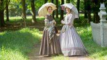 Cynthia Nixon as Emily Dickinson and Jennifer Ehle as her sister Vinnie Dickinson in 'A Quiet Passion,' from director Terence Davies. (Johan Voets)