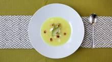 The potato and avocado soup is a traditional starter in Ecuadorian cuisine. (Deborah Baic/The Globe and Mail)