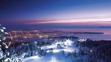 Grouse Mountain's 24 Hours of Winter lets visitors ski and snowboard into the wee hours, take a snowshoe tour and bust out their best ice-skating moves to DJ music on a mountaintop frozen pond. (Grouse Mountain)