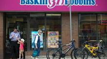 Baskin-Robbins says it regrets the pain the closing of its Ontario plant would cause. (Galit Rodan/The Globe and Mail)